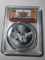 2015 Canada $5 Great Horned Owl Silver Coin, PCGS MS69