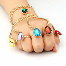 US! Marvel Thanos Gauntlet The Infinity War Stones Hand Chain Bracelet Gifts
