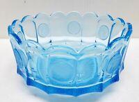 Blue Fostoria Glass Coin Bowl