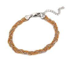 18K 18ct Gold filled Solid 3 tone twist woman man layer bracelet BL-A163
