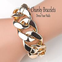 ~Bracelet  Chunky Wrist Chain Costume Jewellery Lightweight Thick Big Party
