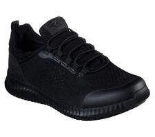 Skechers amplia Fit Negro Zapatos Mujeres Trabajo de espuma de memoria Slipon Antideslizante 77260