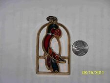 """Colorful """"Stained Glass"""" Parrot Charm or Pendant"""
