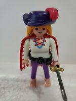HELMET Playmobil figure MERMAN W// BLACK HAIR CAPE SCEPTER SWORD