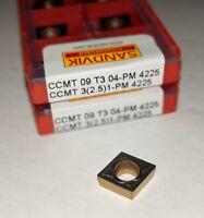 SANDVIK CCMT 32.51-PM / CCMT 09T304-PM 4225 Turning Carbide Inserts (10 Pcs)