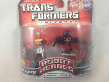 Transformers Universe Robot Heroes Autobot Blaster Thrust NEW MIB