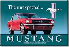 THE UNEXPECTED FORD MUSTANG CAR, Retro Vintage Tin Sign Magnet USA