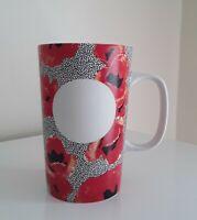 Starbucks 2015 Red Poppy Flowers Dot Collection Ceramic 16 oz Coffee Cup Mug