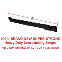 Adjustable Door Limiting Straps For 1995-2006 Jeep Wrangler CJ TJ YJ PAIR 9 Inch