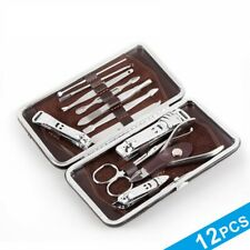 12pcs Manicure Set Nail Clipper Earpick Grooming Pedicure kit Men Women UK