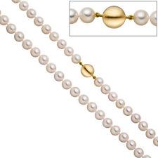Perlenkette aus Akoya Perlen 45 cm Schlie�Ÿe 925 Silber gold vergoldet matt