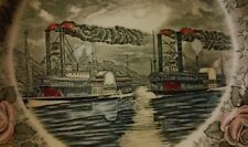 A MIDNIGHT RACE ON THE MISSISSIPPI  PLATE BY B. ALTAMAN & CO NEW YORK CITY
