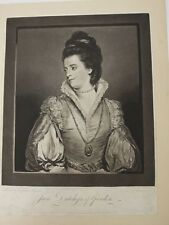 Maniere Noire schabkunst Portrait Dutchess of Gordon Mezzotint Reynolds
