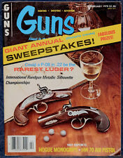 Magazine *GUNS* February 1979 !!Rarest LUGER? P-08 .22!! **KA-BAR'S KNIFE Kit**