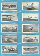 AVIATION - LAMBERT & BUTLER - SET OF 25 A HISTORY OF AVIATION CARDS  -  1932