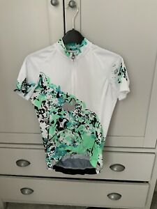 Assos Womens Wild Short Sleeved Jersey - White/Green - Small