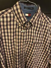 Tommy Hilfiger mens Red And Blue Stripe button down L shirt was $98