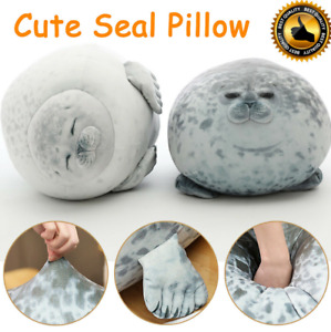 Latest  chubby spotted sea animal seal cute plush pillow doll toy kids gift UK.