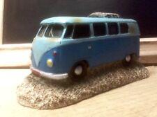 VW Camper Van Aquarium Two Tone Blue Fish Tank Surfer Decoration Ornament