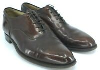 Johnston Murphy Oxford Men's Sz 9 D/B Brown Leather Plain Toe Lace Up Dress Shoe