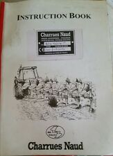NAUD JUNIOR APX PLOUGH PARTS & OPERATORS MANUAL