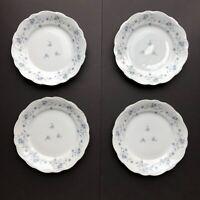 "Lot of 4 Johann Haviland Blue Garland 10"" Dinner Plates Bavaria Germany"
