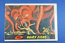 """1962 Topps Bubbles - Mars Attacks - #42 """"Hairy Fiend"""" - Good Condition"""