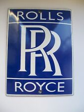 GOOD QUALITY STOVE ENAMEL ROLLS ROYCE  BADGE PLAQUE SIGN MAN CAVE GARAGE