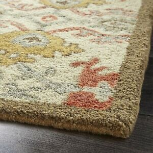 New Brand Orange Contemporary Style Wool Handmade  Area RUGS & Carpet