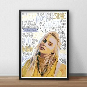 Billie Eilish Poster / Print / Wall Art A4 A3 / Bad Guy / When The Party's Over
