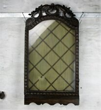 Antique 19th Century French Display Relic Hand Carved Wood Cabinet Wall HTF