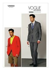 Vogue Sewing Pattern V8890 Mens Suit Jackets Shorts & Trousers Size 40-46