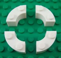 4 LEGO White Curved Brick 2 Knobs 2X2 # 4567449