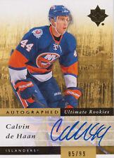 11-12 Ultimate ULTIMATE ROOKIES xx/99 Made! Calvin De HAAN #134 - Islanders RC