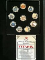 TITANIC   ENAMEL UK HALF PENNY COLLECTION