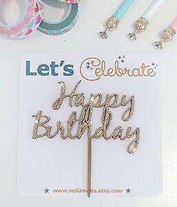 Wooden Happy Birthday Cake Topper - Birthday Boy Birthday Girl Cake Topper