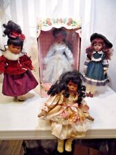 """Four Collectible Porcelain Doll 14""""-18"""" Kingstate-Century-Minie Fine Collectible"""