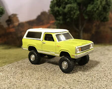 1977 Dodge Ramcharger 4x4 Lifted Custom 1/64 Diecast Truck Farm Off Road 4WD Mud