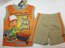 Disney Boys Handy Manny 2 piece beige orange sleeveless short set size 4T NWT
