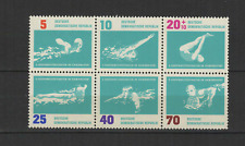 DDR ALLEMAGNE 1962 Y&T N°620 à 625 timbres neufs  natation /T3371