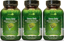 Irwin Naturals Stress Defy, Balanced, Relaxed, Calm Soft-Gels, 84-CNT (3 Pack)