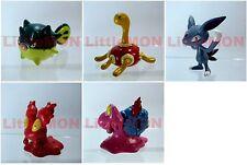 B#211] 5x Pokemon Figures 4-5cm: Qwilfish Shuckle Sneasel Slugma Magcargo