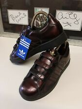 Rare 2002  dead stock Vintage  metallic Adidas Campus Velcro Trainers Size 5.5