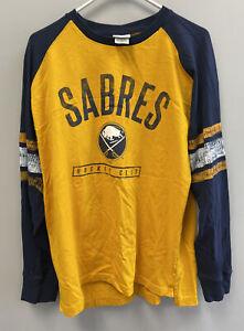 NHL Buffalo Sabres Hockey Club Long Sleeve 100% Cotton T-Shirt Size XL Hockey