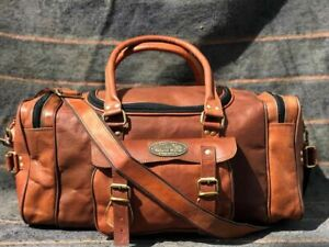 Vintage Men Luggage Weekend Bag Tote (Upto 30 Inch) Leather Duffel Travel Gym