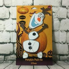 Disney Frozen Olaf Halloween Wooden Pumpkin Push-ins 5 Piece Decoration