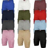 Mens Cargo Combat Shorts Multi Pocket Chino Combat Cotton Half Big Pants 30-46