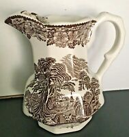 Enoch Wedgwood Tunstall Ltd Woodland Earthenware Fluted Creamer Pitcher 5-34""