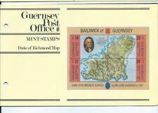 GUERNSEY PRESENTATION PACK MNH 1987 DUKE OF RICHMOND MAP