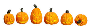 Dollhouse Miniature Halloween Pumpkins Set of 6